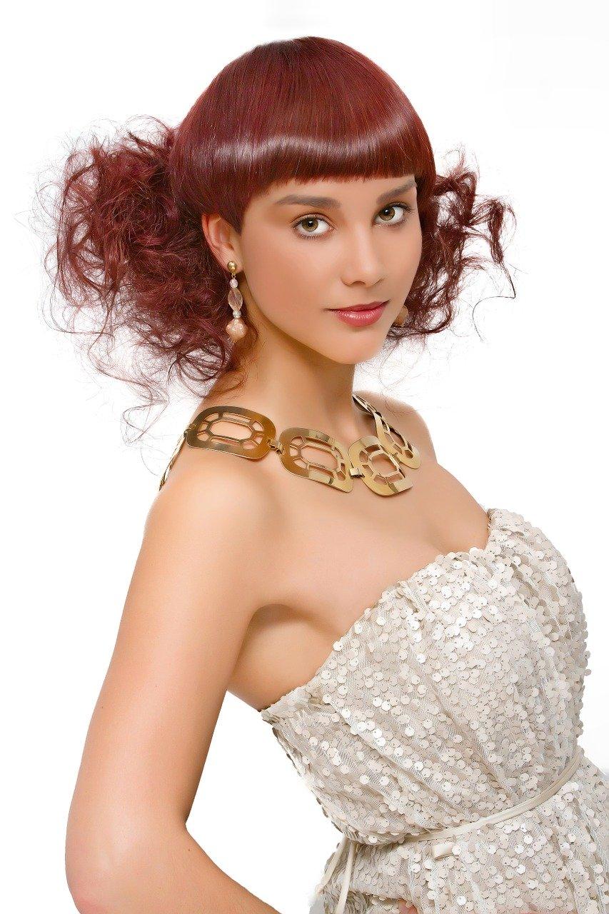 Woman Fashion Elegant Hairstyle
